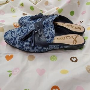 Sam Edelman navy floral shoes women's size 9